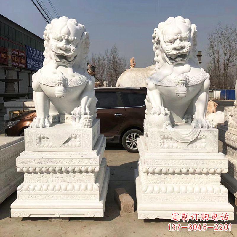 北京汉白玉石狮子