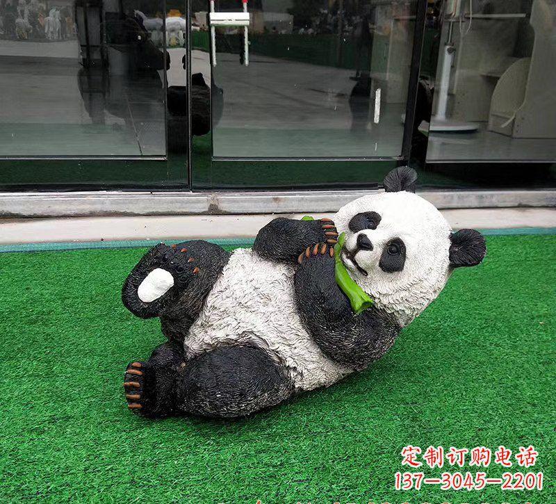 玻璃钢熊猫动物雕塑222