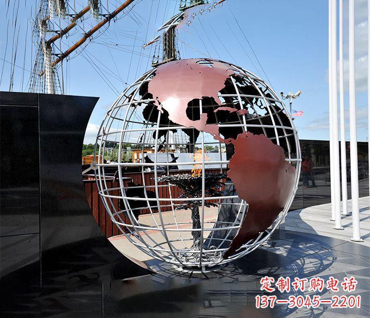 不锈钢大型地球仪雕塑