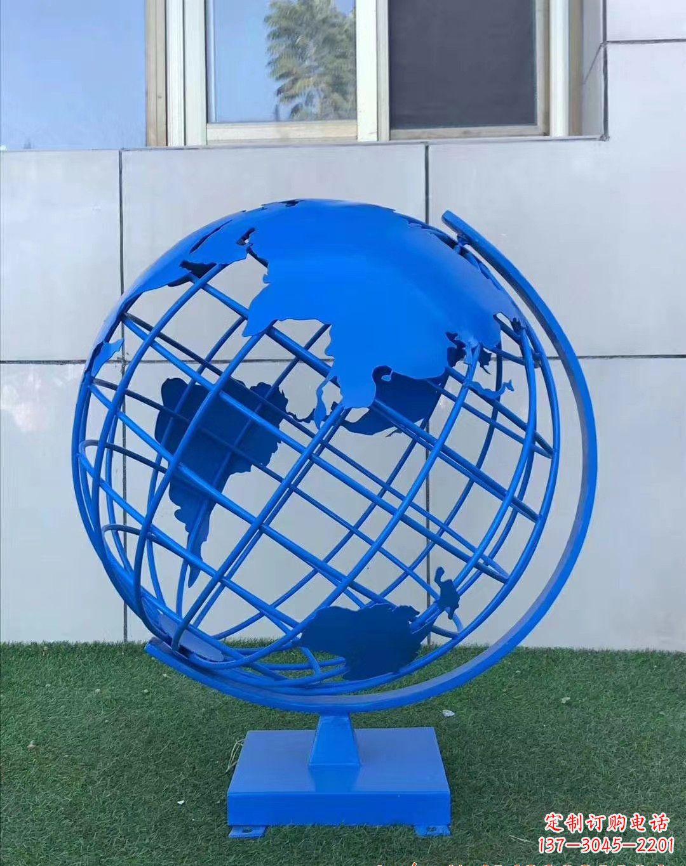 不锈钢地球仪雕塑222