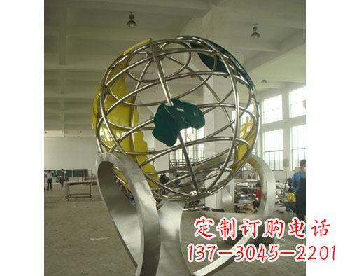 不锈钢地球仪景观雕塑