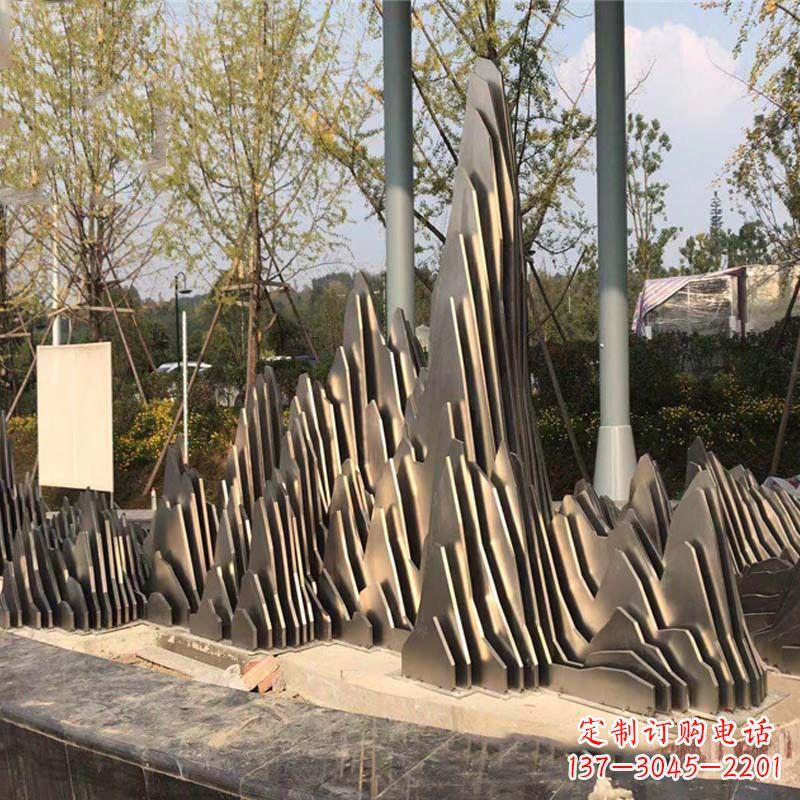 不锈钢假山雕塑-公园园林创意景观雕塑