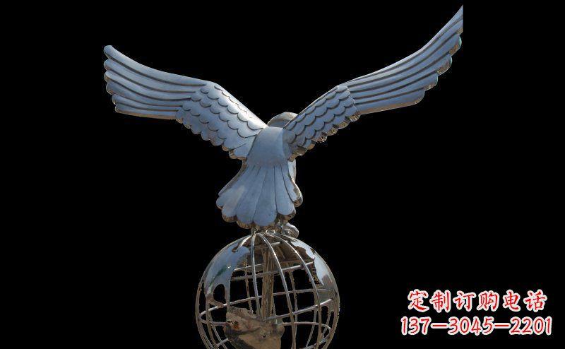 不锈钢雄鹰雕塑