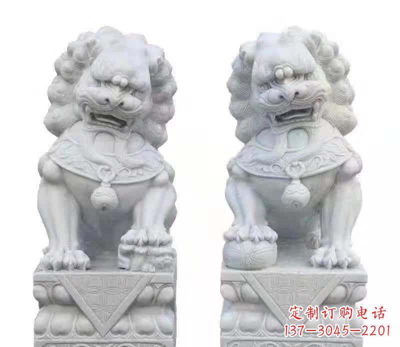 大理石狮子雕塑