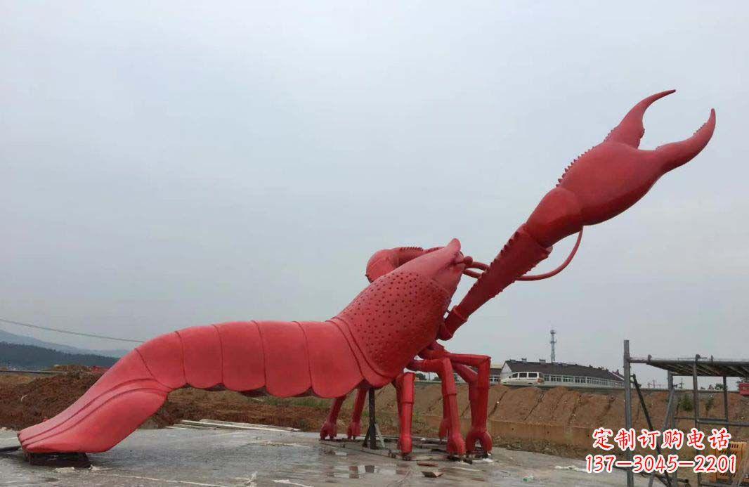 大型广场不锈钢龙虾雕塑