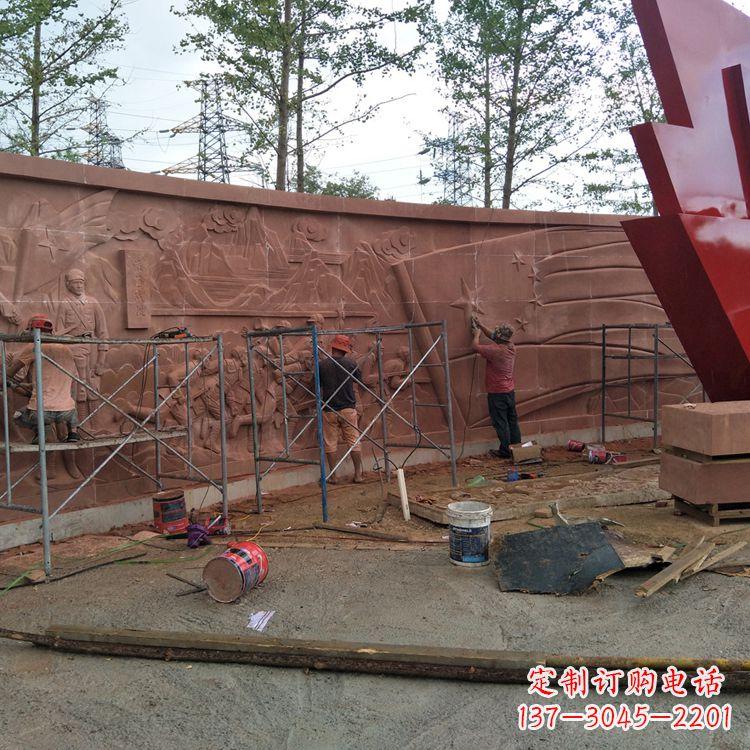 党建主题浮雕墙