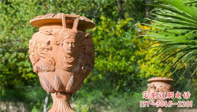 公园别墅欧式花盆石雕