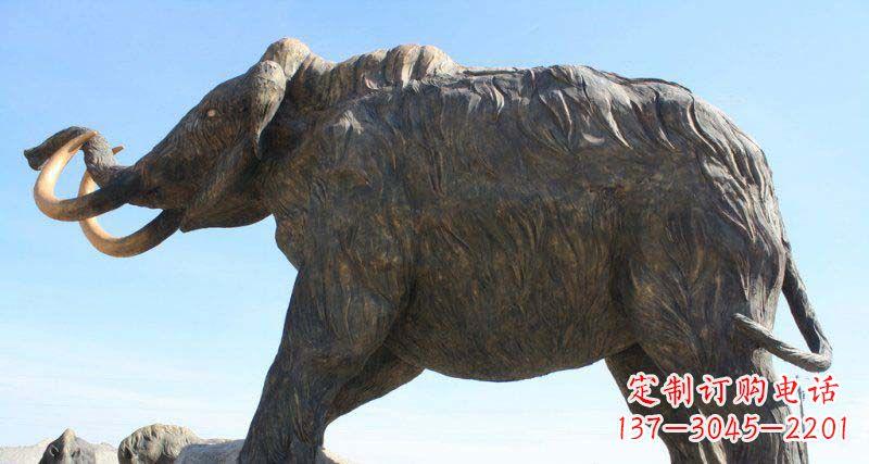 公园抽象大象动物铜雕