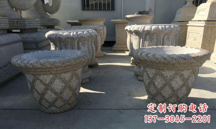 公园景观花篮式花盆石雕