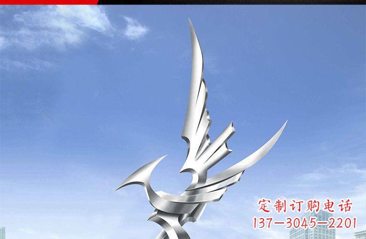 广场不锈钢雄鹰摆件雕塑