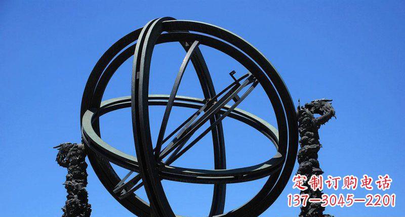 广场青铜浑天仪雕塑
