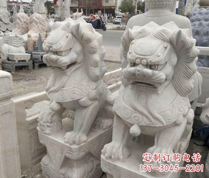 企业景观大理石狮子石雕