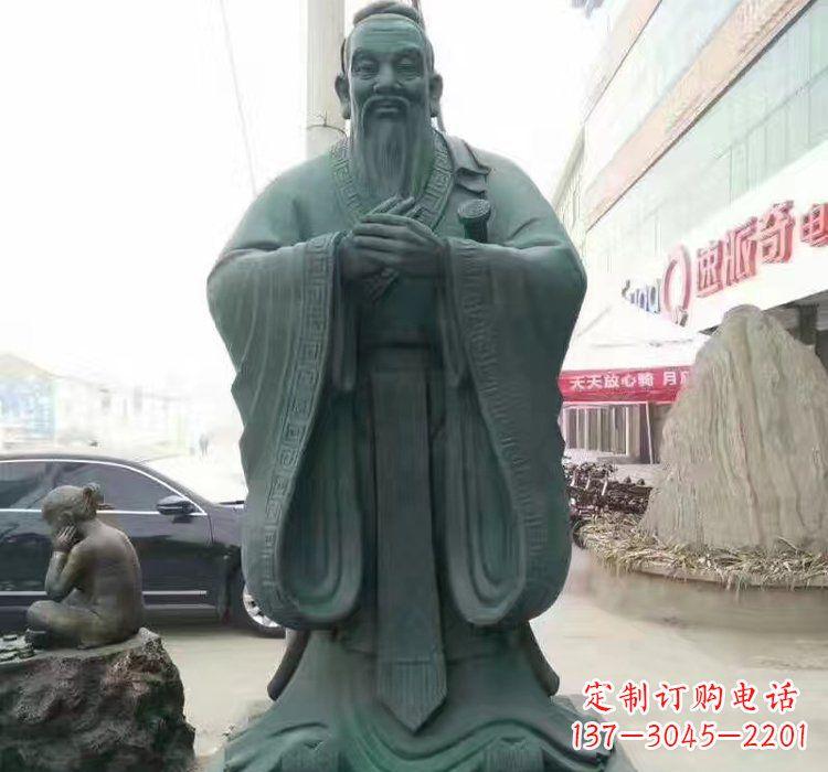青铜孔子雕像