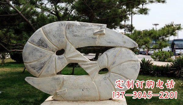 石雕龙虾公园动物雕塑