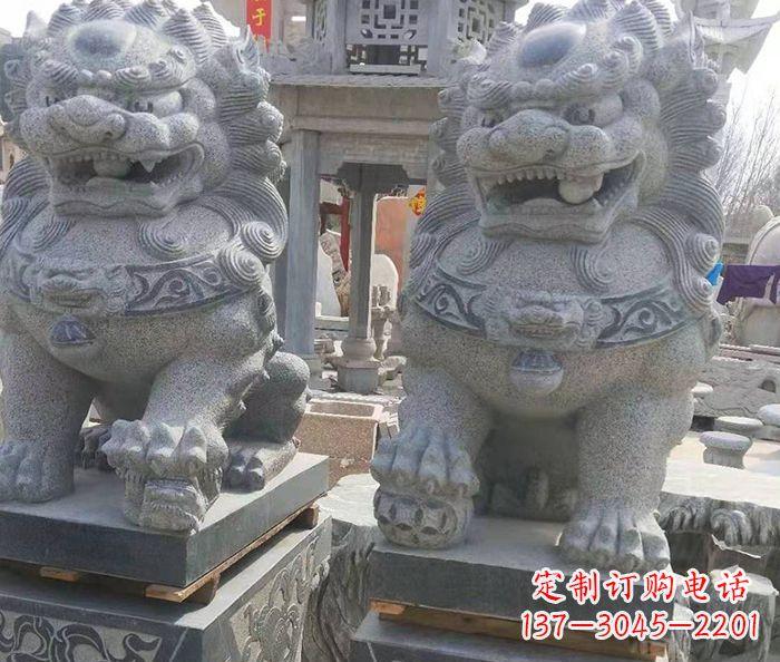 寺庙景观仿古石狮子