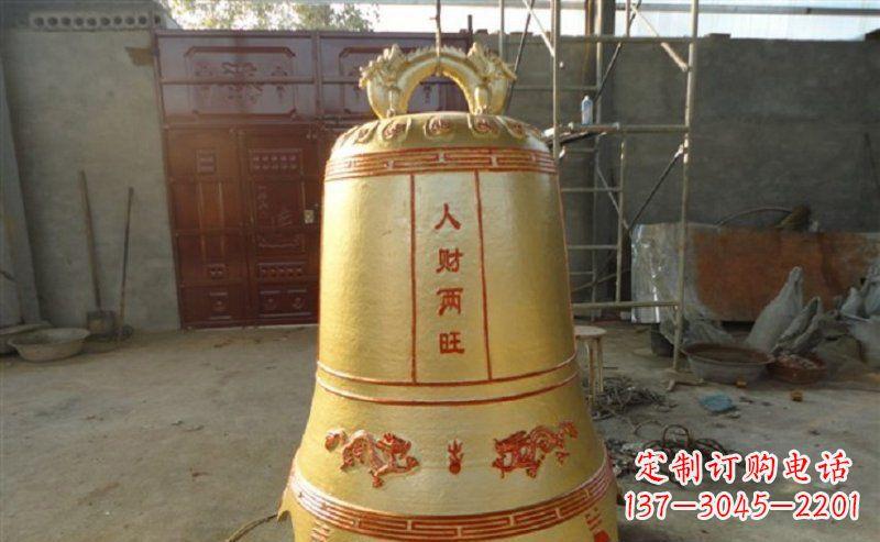 寺庙铸铜钟雕塑